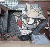Искусство настенной росписи на восточном Williams в Бруклине Стоковое Изображение RF