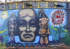 Искусство настенной росписи на парке бальбоа в Сан-Диего Стоковое фото RF