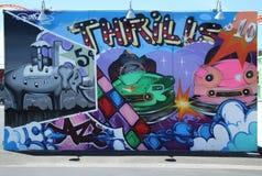 Искусство настенной росписи на стенах искусства кролика в разделе острова кролика Бруклина Стоковые Фото