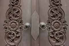 Искусство на античной двери Стоковое Изображение RF
