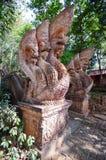 Искусство на Phra то kitti chom Стоковое Фото