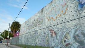Искусство на wynwood Майами FL видеоматериал