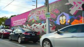 Искусство на wynwood Майами FL акции видеоматериалы