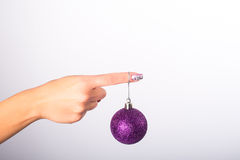 Искусство ногтя рождества Стоковое Изображение