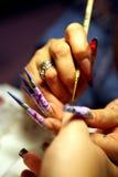 Искусство ногтя Стоковое фото RF