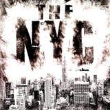 Искусство Нью-Йорка Стиль NYC улицы графический Печать моды стильная Одеяние шаблона, карточка, ярлык, плакат эмблема, штемпель ф Стоковое Изображение RF