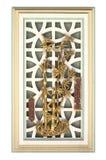 Искусство окна китайского стиля Стоковое Фото
