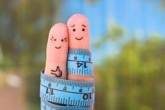 Искусство пальцев счастливой пары с рулеткой Стоковое Изображение