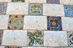 Искусство плитки Güell парка стоковые изображения rf