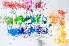 Искусство покрашенных карандашей Стоковое Фото