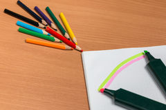 Искусство покрашенных карандашей Стоковая Фотография RF