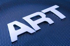 искусство помечает буквами металл Стоковое Фото