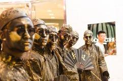 Искусство представления, Bronzemen Стоковая Фотография