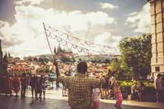 Искусство пузыря улицы Праги стоковые фотографии rf