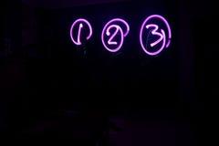 1 2 искусство 3 пурпуров светлое Стоковая Фотография