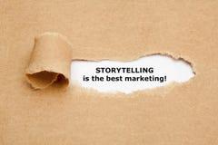 Искусство рассказа самый лучший маркетинг стоковое изображение rf