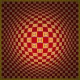 искусство расширяет один op красный желтый цвет Стоковая Фотография RF