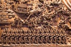 Искусство древесины высекая потоки деталей мифология характера Стоковая Фотография RF