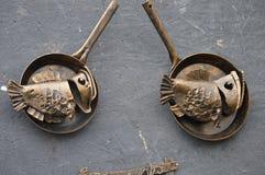 искусство Рыбы металла Стоковые Фото