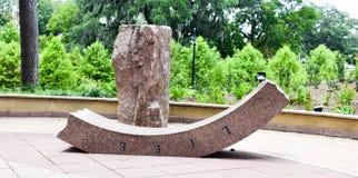 Искусство сломанного круга - знаменующ потерю жизни стоковые изображения rf