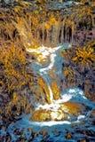 Искусство стекания - течение воды Стоковое Изображение