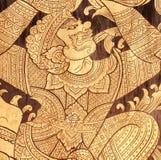 Искусство стены hanuman-обезьяны Стоковая Фотография