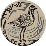 Искусство стоящего круга золотой ржанки племенное иллюстрация вектора