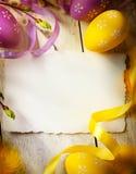 Искусство счастливая пасха Стоковое фото RF