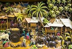 Искусство Таиланда деревянное высекая Стоковое Изображение RF