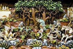 Искусство Таиланда деревянное высекая Стоковое Фото