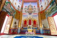 Искусство тайское на стене на sudha Wat Sri было Стоковая Фотография