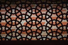 Искусство тахты в геометрических картинах на древесине Стоковое Изображение