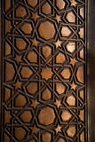 Искусство тахты в геометрических картинах на древесине Стоковая Фотография