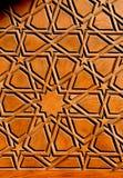 Искусство тахты в геометрических картинах на древесине Стоковое Фото