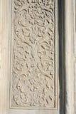 Искусство тахты мраморное высекая в цветочных узорах Стоковое Изображение RF