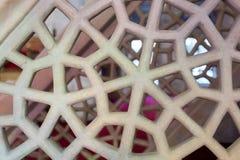 Искусство тахты мраморное высекая в цветочных узорах Стоковые Изображения RF