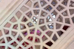 Искусство тахты мраморное высекая в цветочных узорах Стоковые Фото