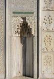 Искусство тахты мраморное высекая в цветочных узорах Стоковое Фото