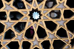 Искусство тахты мраморное высекая в цветочных узорах Стоковые Фотографии RF