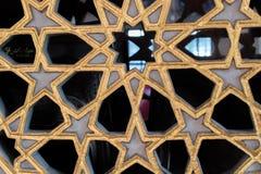 Искусство тахты мраморное высекая в цветочных узорах Стоковая Фотография RF