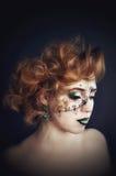 Искусство тела на стороне, красивый представлять девушки Стоковое Изображение RF