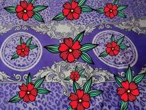 Искусство ткани дизайна красной розы бесплатная иллюстрация