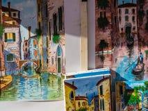 Искусство улицы в Венеции: картины стоковая фотография