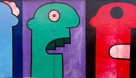 Искусство улицы галереи Ист-Сайд в Берлине Стоковые Фотографии RF