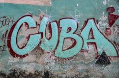 Искусство улицы Кубы стоковые изображения rf