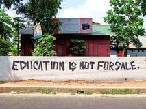 Искусство улицы, образование, Bangaldesh стоковые фото