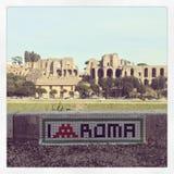 Искусство улицы Рима стоковое фото