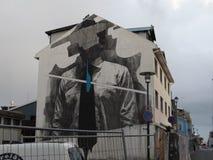Искусство улицы, человек без стороны Стоковое фото RF