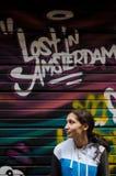 Искусство улицы Amstrdam, граффити стоковое фото
