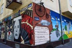 Искусство улицы, Novi грустное, Сербия стоковая фотография